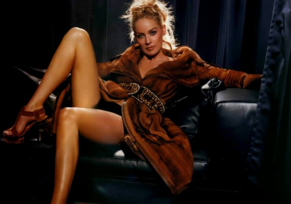 Sharon Stone Feet and Sexy Legs
